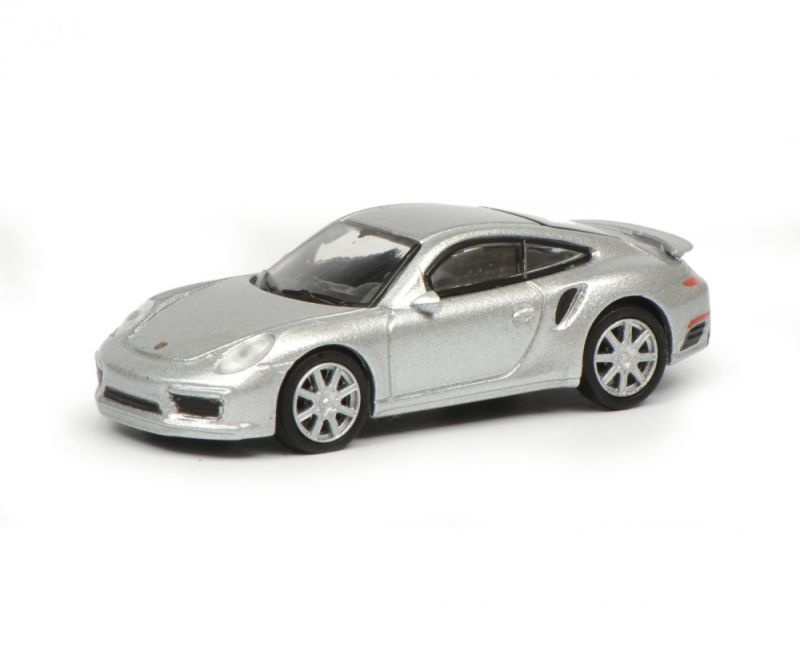 Porsche 911 Turbo S (991), silber, 1:87 / Spur H0