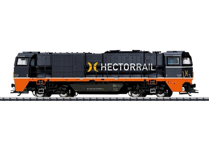 Schwere Diesellok Vossloh G 2000 BB Hectorrail, Sound, DC H0