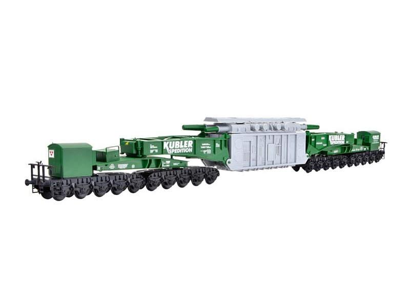 Schienentiefladewagen MAN Uaai 687.9 mit Transformator, H0