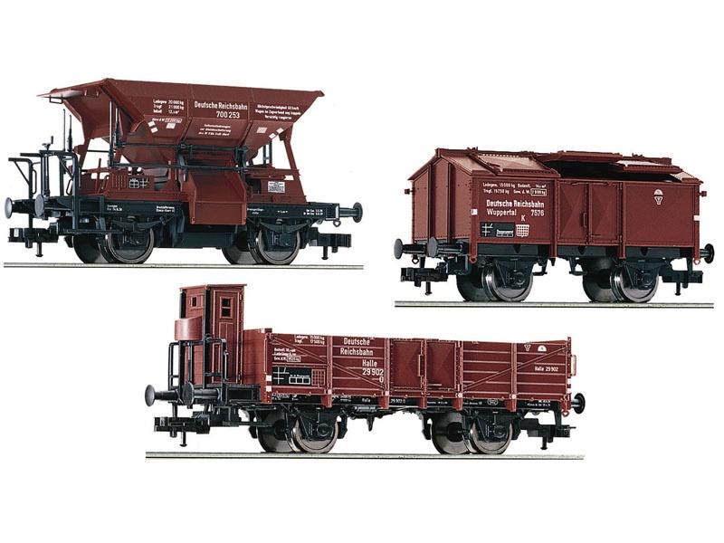 3-tlg. Güterwagenset für E 69 05 der DRB, DC, H0
