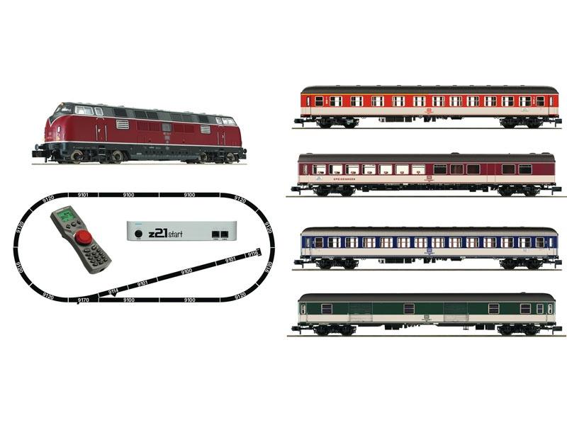 z21 start Digitalset: Diesellok BR 221 mit Schnellzug, DB, N