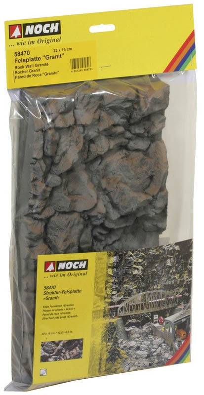 Felsplatte Granit aus Struktur-Hartschaum, 32 x 16 cm