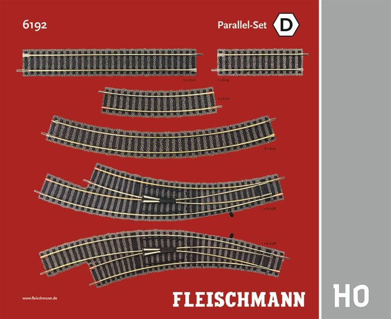 Parallel-Set D Gleiserweiterung Profi-Gleis H0