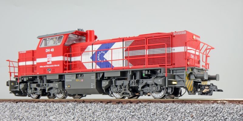 Diesellok, G1000, DH 49 HGK, Sound, DC+AC, Spur H0