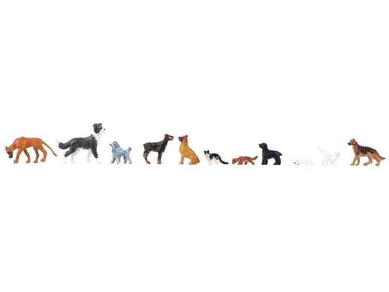 Hunde und Katzen Figuren, Spur H0