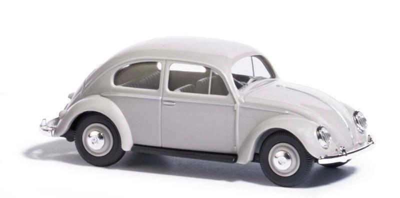 VW Käfer mit Ovalfenster, Grau, Spur H0