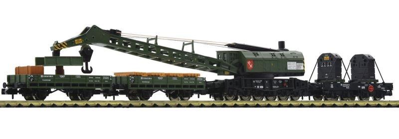 Kranzug mit Dampfkranwagen der DB, 4-tlg., Ep. III, Spur N