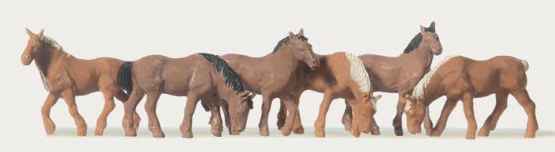 Pferde 6 Stück 1:87 /  H0