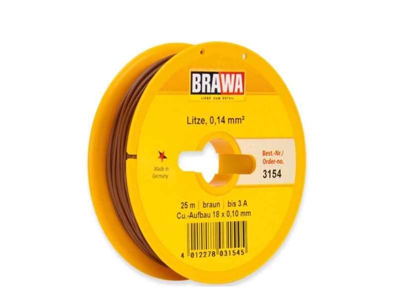 Schaltlitze 0,14 mm², 25 m Spule, braun