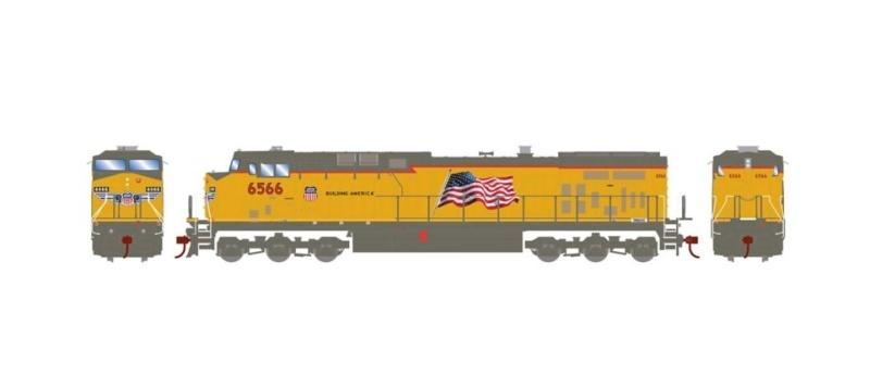 Diesellokomotive AC4400CW #6566 der UP, DC, Spur H0
