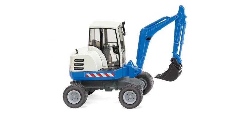 Mini-Bagger - blau, 1:87, H0
