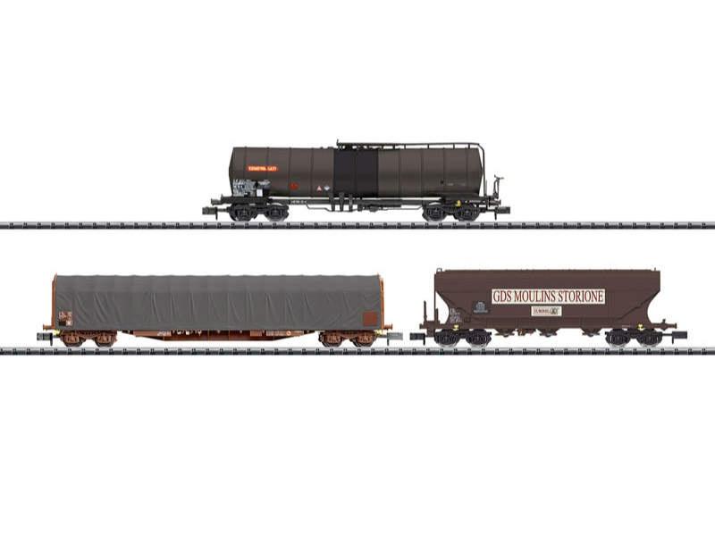Güterwagen-Set der SNCF Spur N