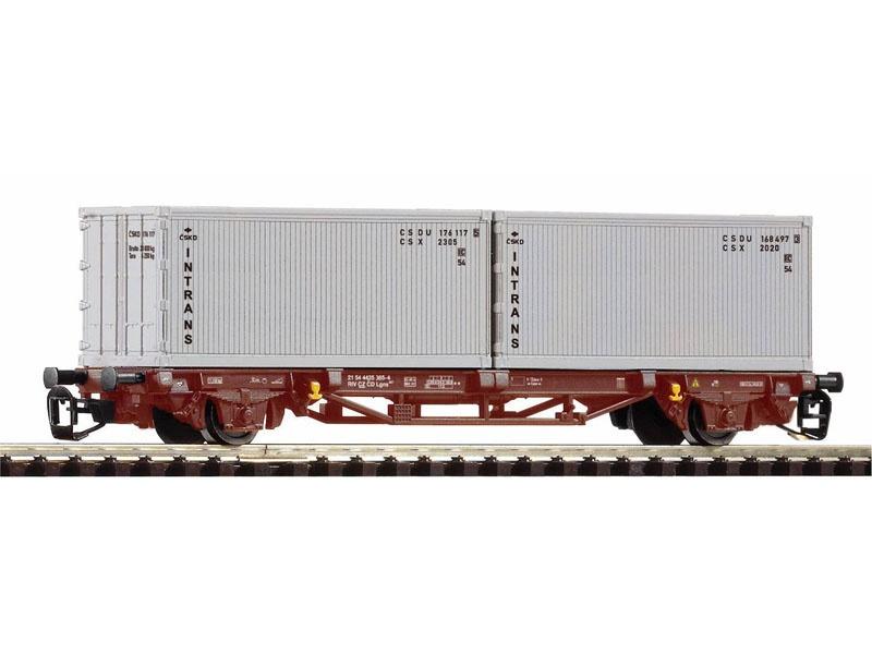 Containertragwagen Lgs579 CSD IV 2x20 Intrans, Spur TT