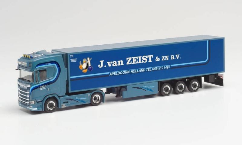 Scania CS 20 HD Kühlkoffer-Sattelzug J.van Zeist, 1:87 /H0