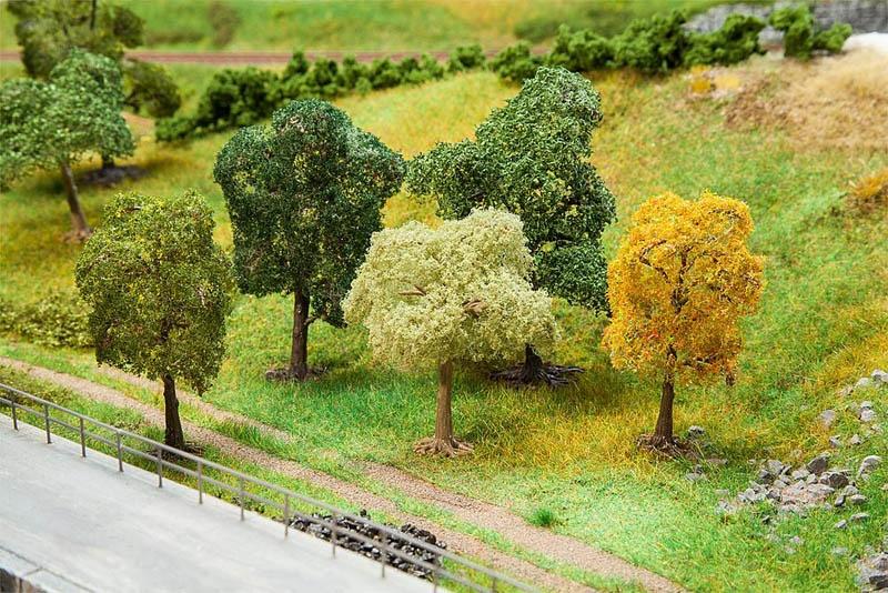 5 PREMIUM Bäume, sortiert H0, TT