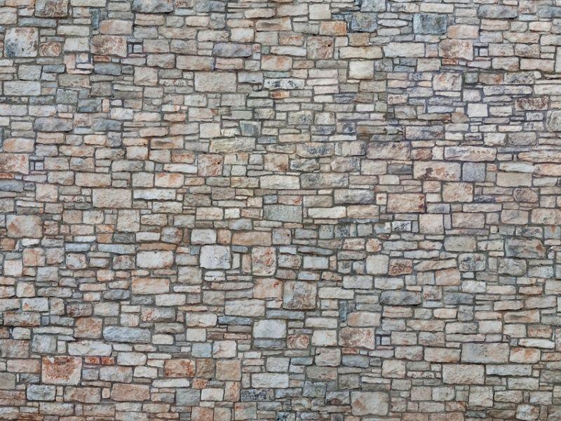 3D Kartonplatte Bruchsteinmauer, Spur H0