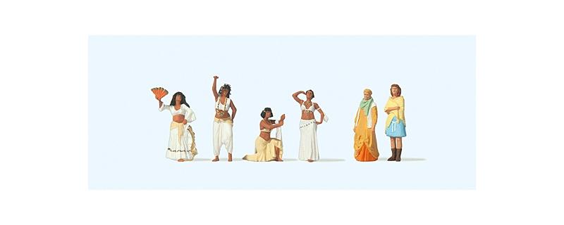 Orientalische Tänzerinnen, Zuschauer, Figuren, 1:87 / H0