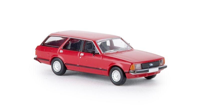 Ford Granada II Turnier, rot, TD, Spur H0