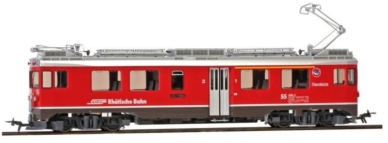 Berninatriebwagen ABe 4/4 55 Diavolezza, RhB, DC, Spur H0m