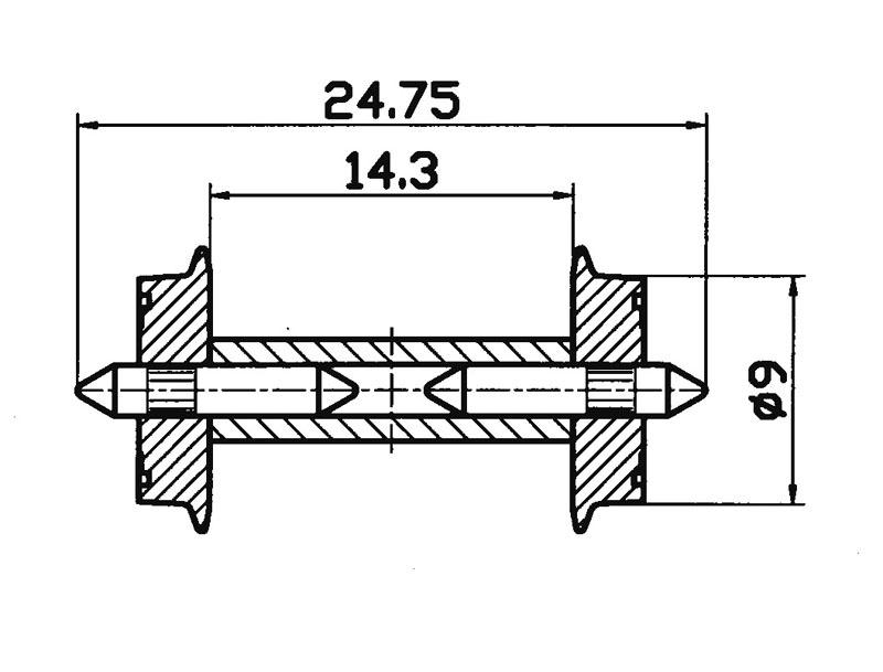 DC-NEM-Normradsatz 9mm H0