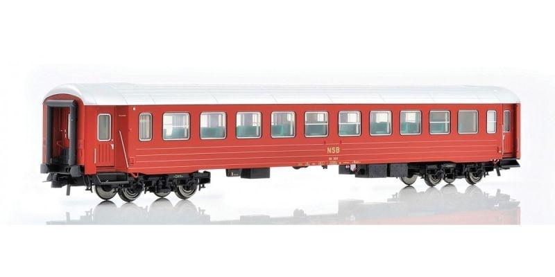 Topline Personenwagen B3K 25659 der NSB, rot von 1982, H0