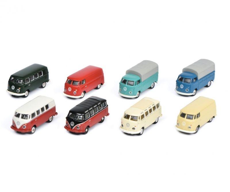 VW T1, 8-er Set, 1:87 / H0