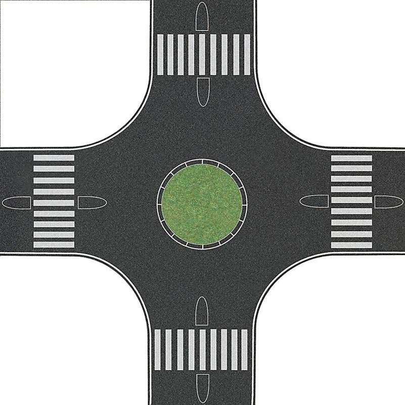 Kreisverkehr, Spur H0