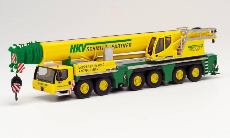 Liebherr LTM 1300-6.2 Mobilkran HKV Krane, 1:87 / Spur H0