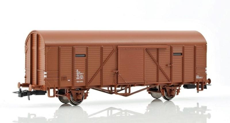 Topline Güterwagen SJ Gbl 108 5 201-7 lukket godsvogn, H0