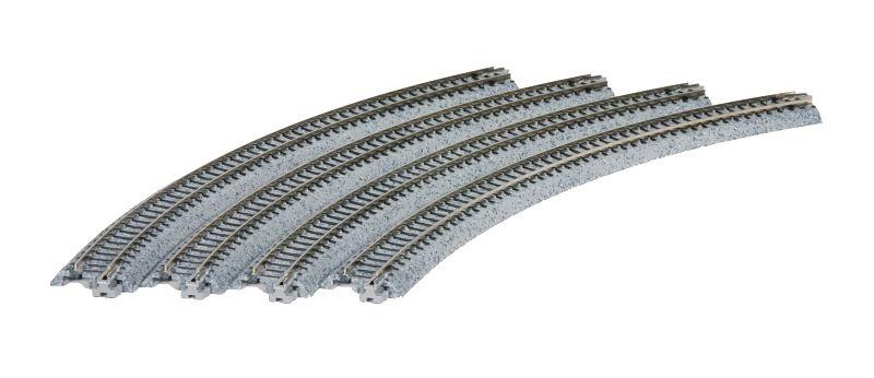 Gleis gebogen R 315-45°, 4 Stück, Spur N