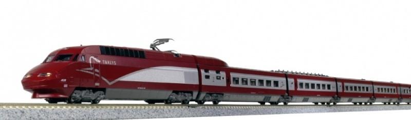 Triebzug TGV Thalys PBA, 10-tlg., Ep.VI neues Design, Spur N