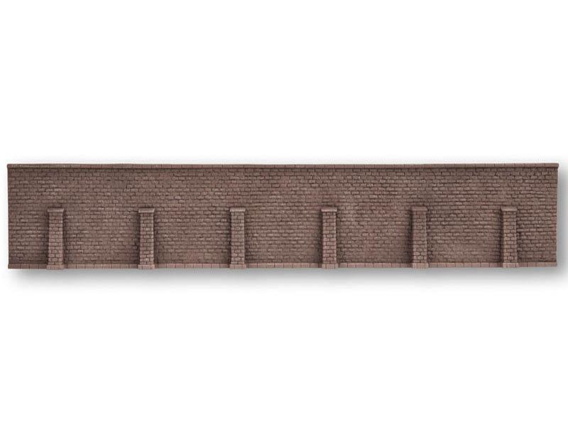 Hartschaum Granitmauer Stützmauer, 66 x 12,5 cm Spur 0, H0