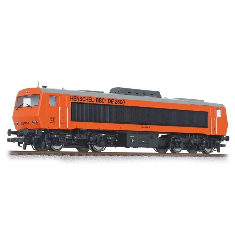 Diesellok DE2500 202 003-0, 4-achsig, DB, rot, Ep.IV, H0