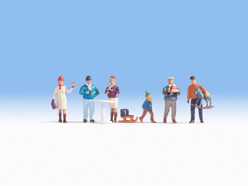 Weihnachtsmarkt Figuren Spur N