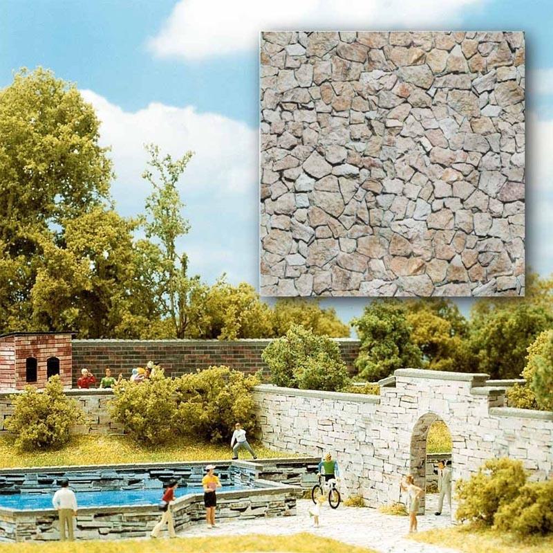 2 Dekoplatten »Naturstein«, Spur H0/TT