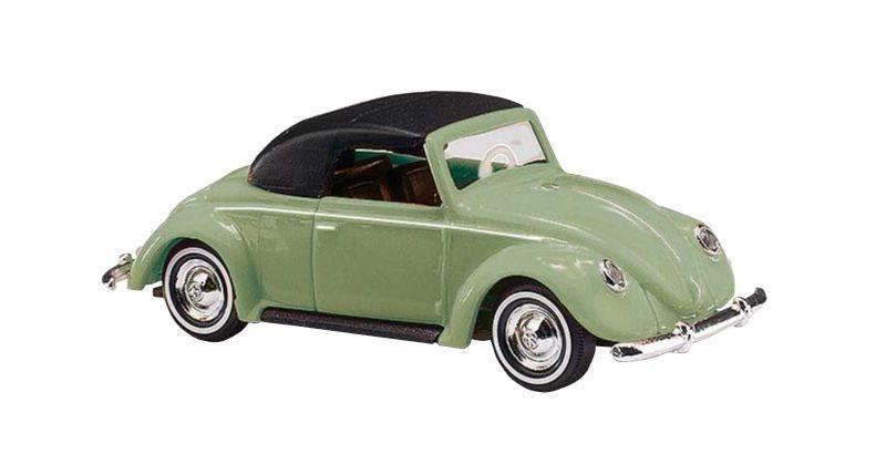 VW Hebmüller Cabrio geschlossen, Grün, Spur H0