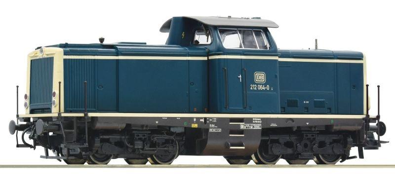Diesellok BR 212 ozeanblau/beige der DB, Sound, DC, Spur H0