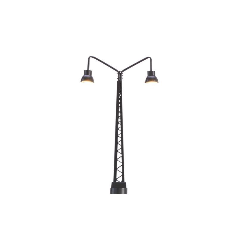 LED-Gittermastleuchte 2-fach, Stecksockel, Spur N