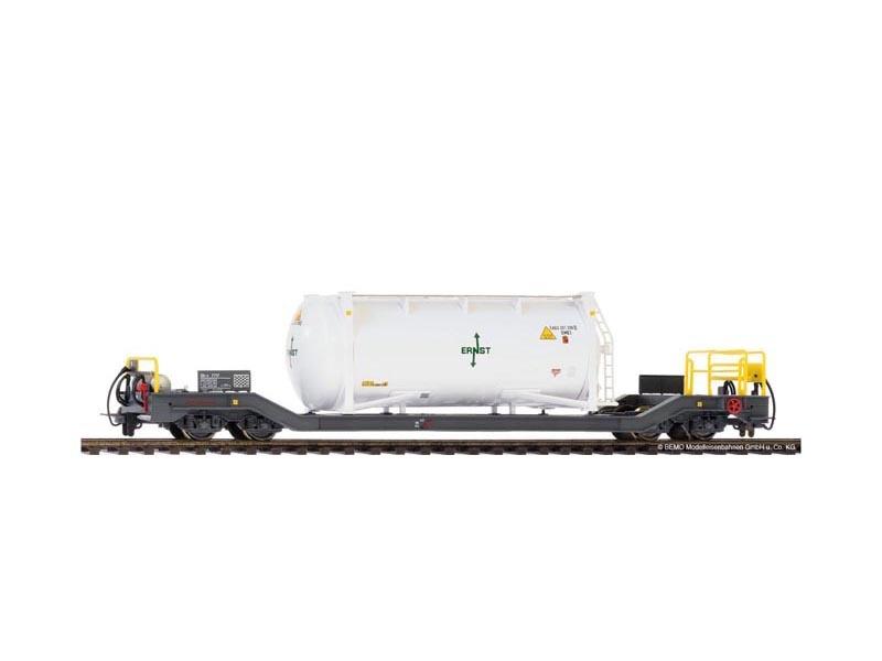Tragwagen mit Container Ernst Sbk-v 7712 der RhB, Spur H0m