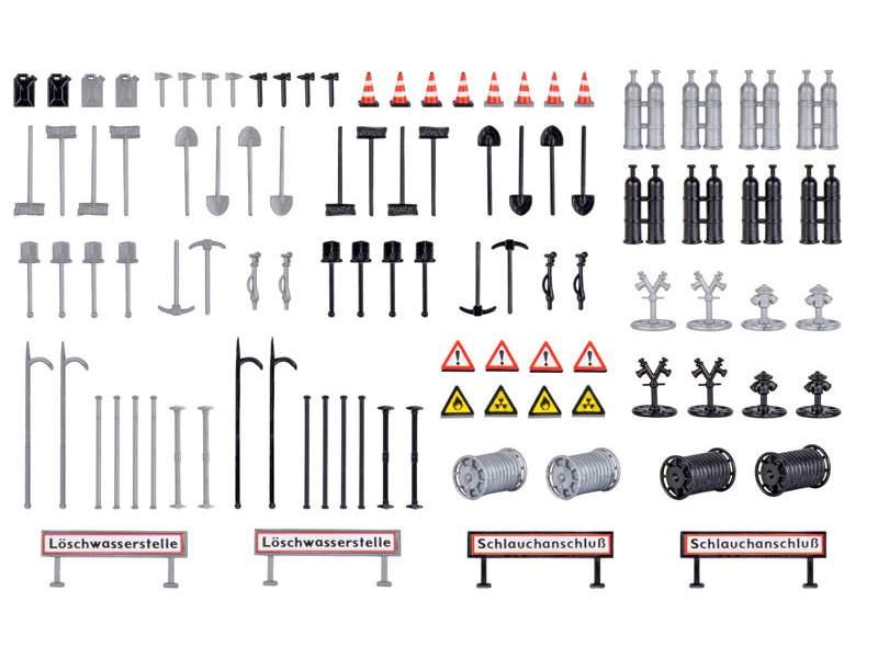 Deko-Set Feuerwehr, Bausatz, Spur H0