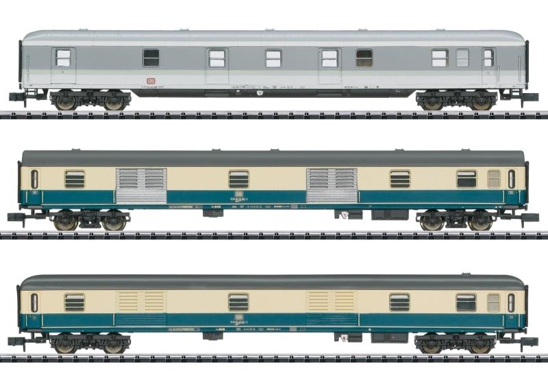 Wagen-Set ExprD 14117 der DB, Minitrix Spur N