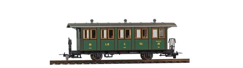 L.D. C.32. Nostalgie-Zweiachsiger Personenwagen, Spur H0m