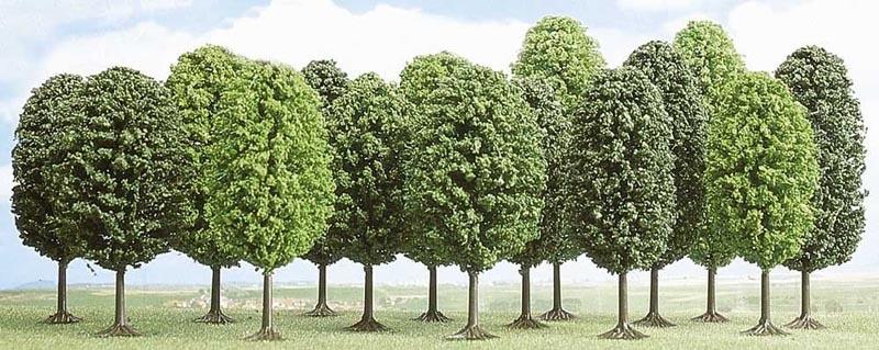 15 Laubbäume, Spur H0