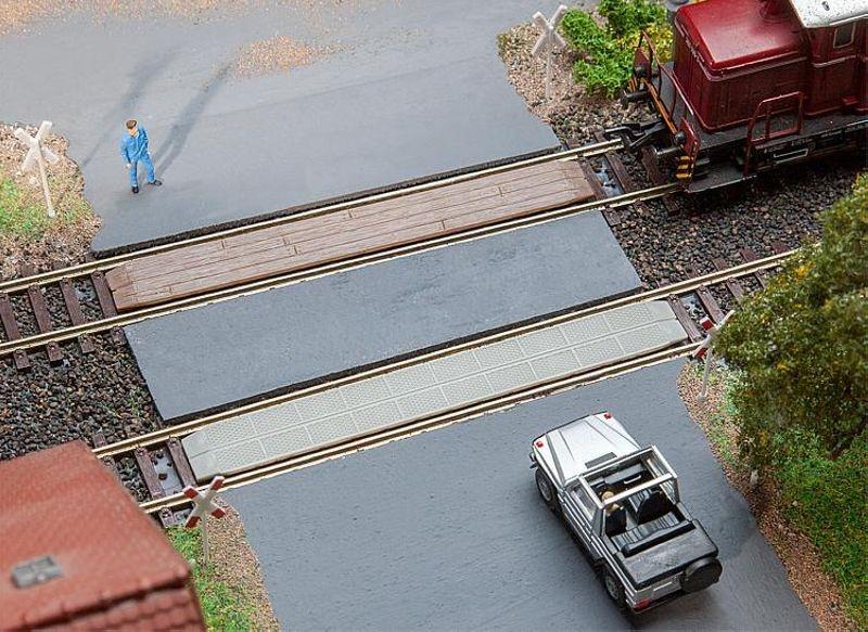 2 Gleisübergänge Bausatz H0
