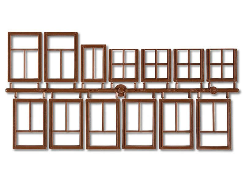 Fenster, braun 13-teilig G