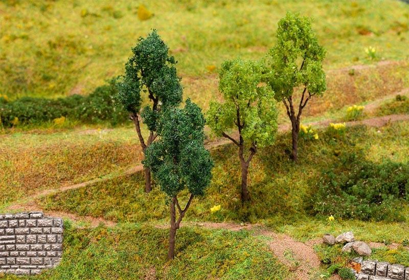 4 Bäume, sortiert, Spur H0, TT, N