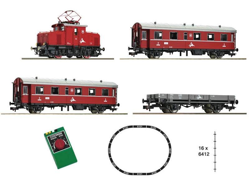 Analoges Startset: Zahnradbahn, Schweizer Privatbahn, DC, H0