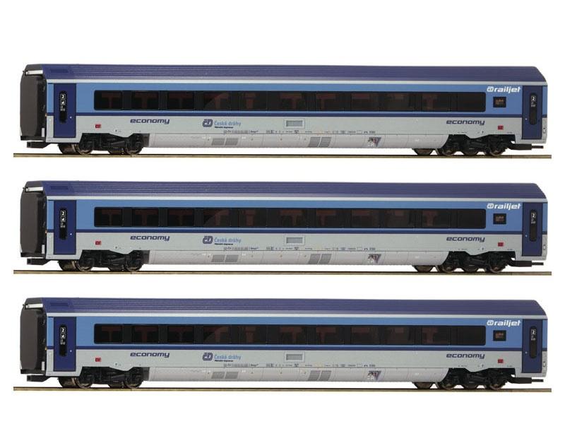 3er Set Railjet der CD, DC, Spur H0