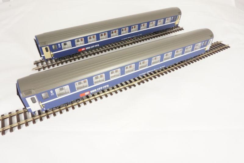 2er Set Liegewagen der SBB, blau Epoche IV, Spur H0