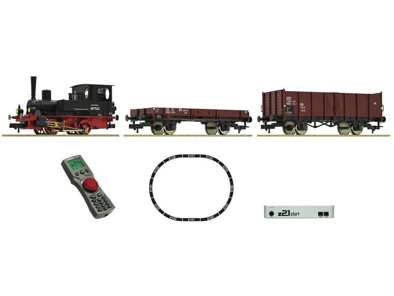 z21 start Digitalset: Dampflokomotive BR 98.75 mit Güterzug